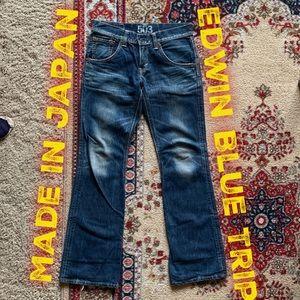 💥Rare Edwin Blue Trip Japanese denim jeans